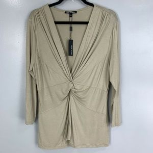2 for $20 Cable & Gauge 3/4 Sleeve Knot Front Top